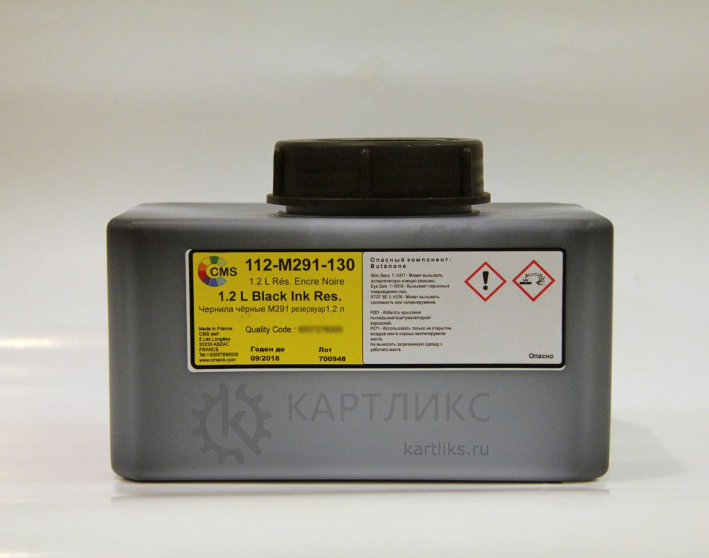 112-M291-130 Чернила для Domino® IR291bk