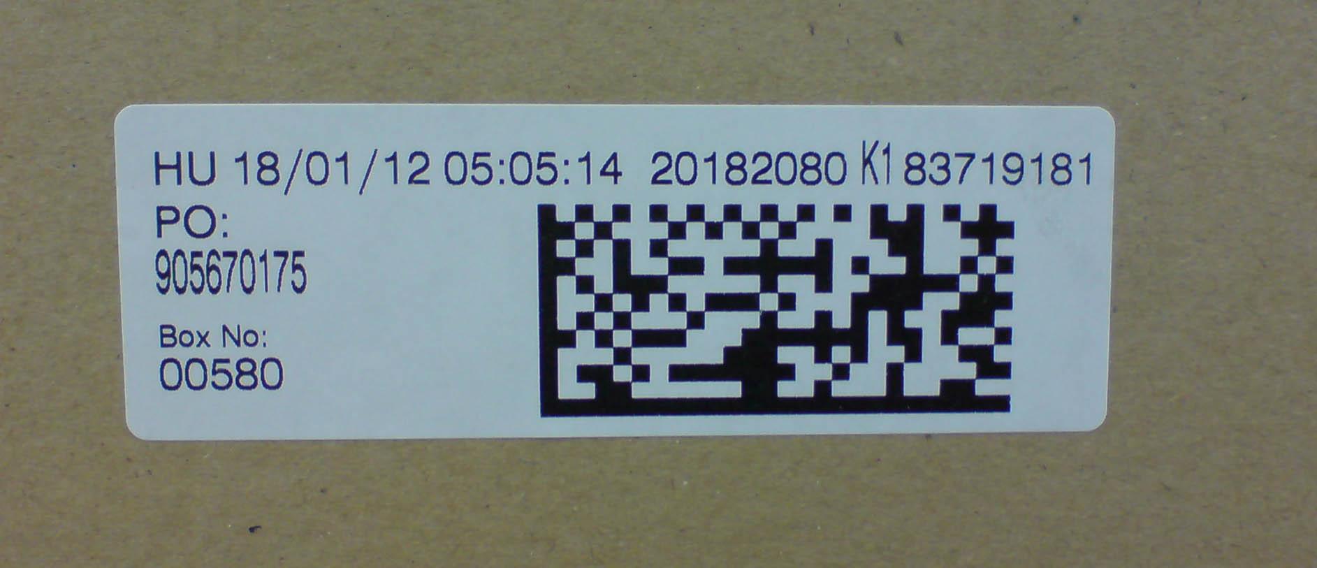 Каплеструйная маркировка картонной упаковки штрихкодом